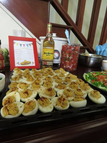 I made my deviled eggs for Jeff's Mexican Themed birthday