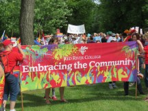 Although some companies in Steinbach refused to support the event, far more came with signs and showed their belief in equality! It was fantastic!