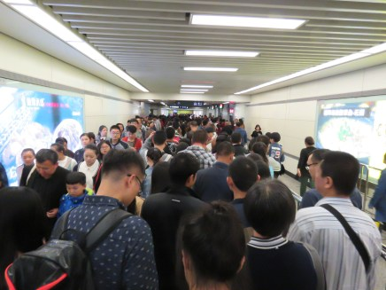 Crowds in the subway...