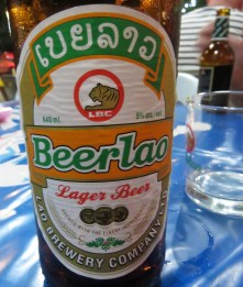 One of Laos' most important exports: beer!