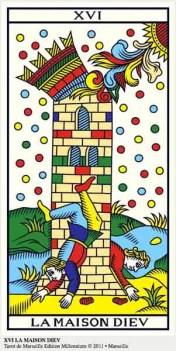 ©Wilfried Houdouin tarot-de-marseille-millennium.com, XVI La Casa Dios o La Torre en marifranstarot.com