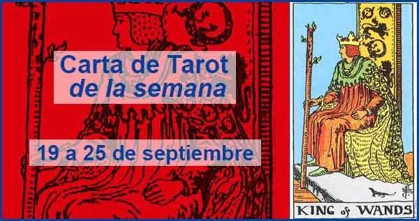 19 al 25 de septiembre 2016 Carta de Tarot semanal en marifranstarot.com