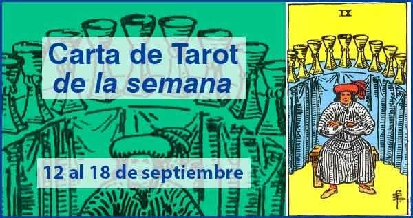 12 al 18 de septiembre 2016 Carta de Tarot semanal en marifranstarot.com