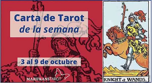 3 al 9 de octubre 2016 Carta de Tarot semanal en marifranstarot.com