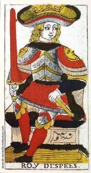 Rey de Espadas Tarot de Marsella Madenié Tarot evolutivo Tarot terapéutico