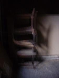 Stacked chairs. Digital photo. Mari French 2014