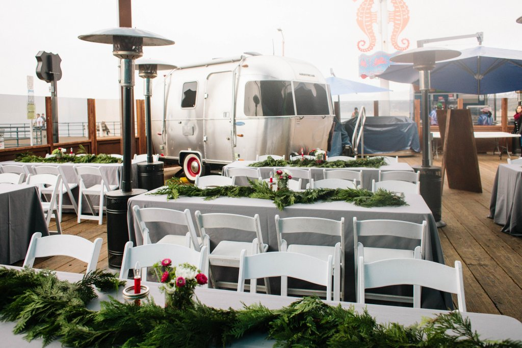 Marigold Events LA | Santa Monica Pier Holiday Party, Airstream,