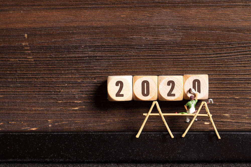 Das Jahr 2020 auf Würfeln