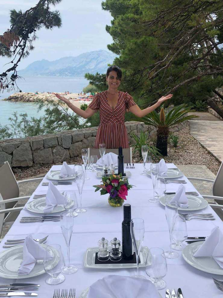 Waiting for my guests - Hotel Berulia Brela (private photo)
