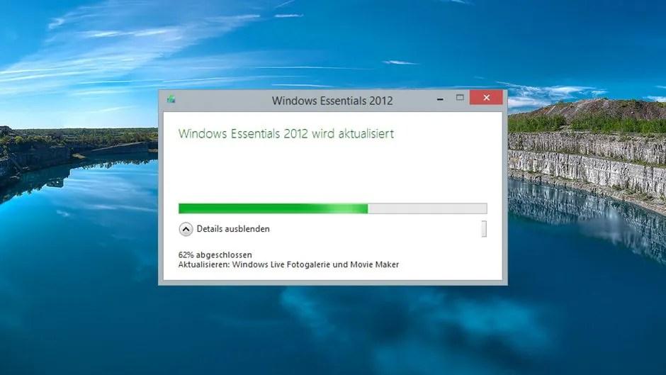 Windows Essentials 2012 erhalten Update