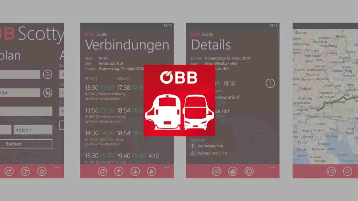 Windows Phone: ÖBB Scotty App aktualisiert