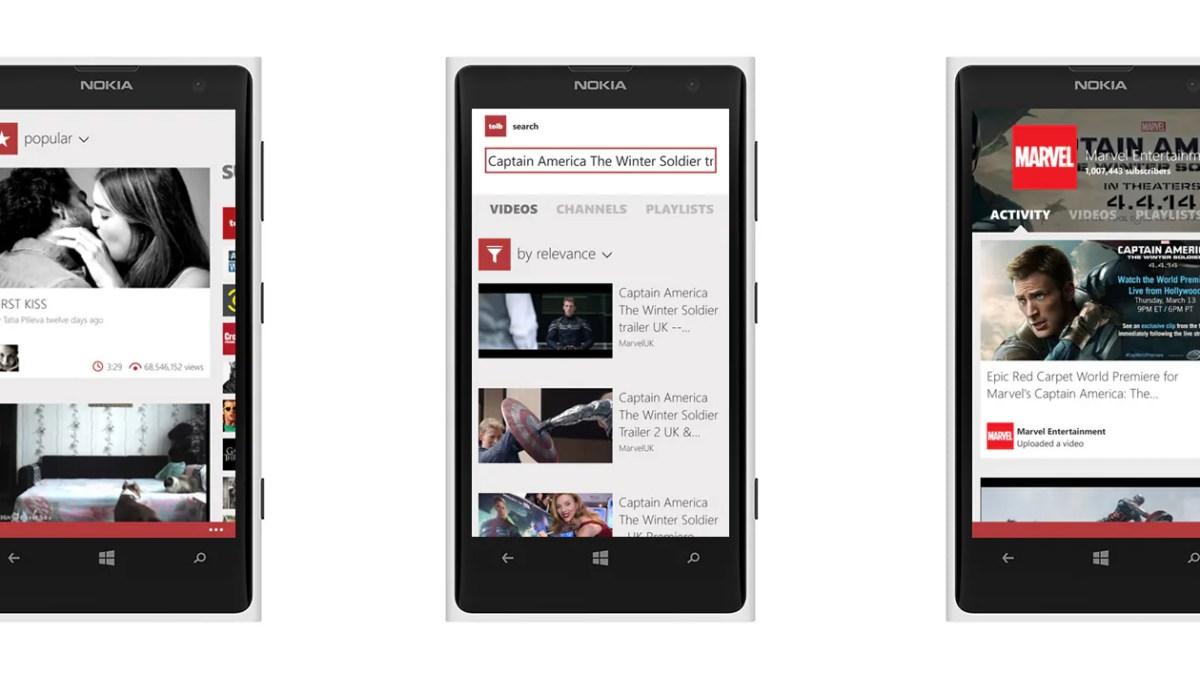 Toib – YouTube für Windows Phone in schön
