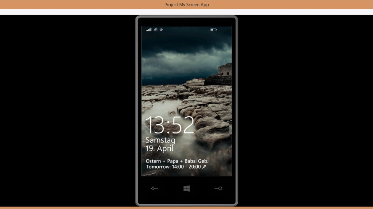 Windows Phone 8.1: Project my Screen ist da!