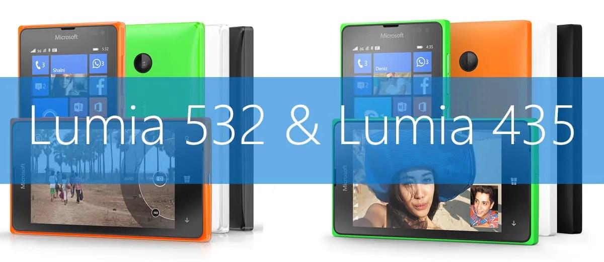 Microsoft stellt Lumia 435 und 532 vor
