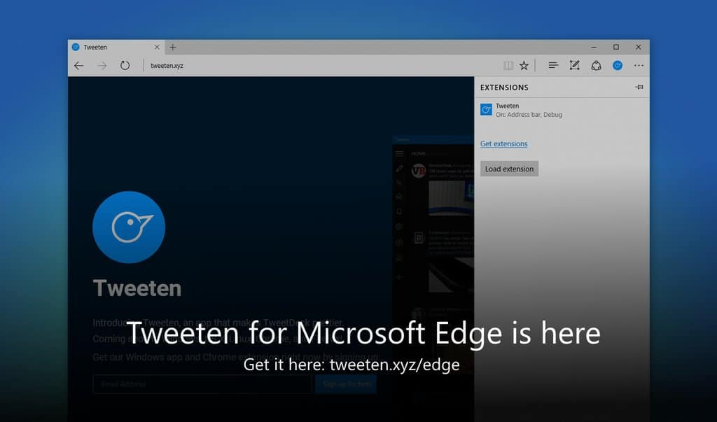 Tweeten: Twitter Edge-Extension ist da!