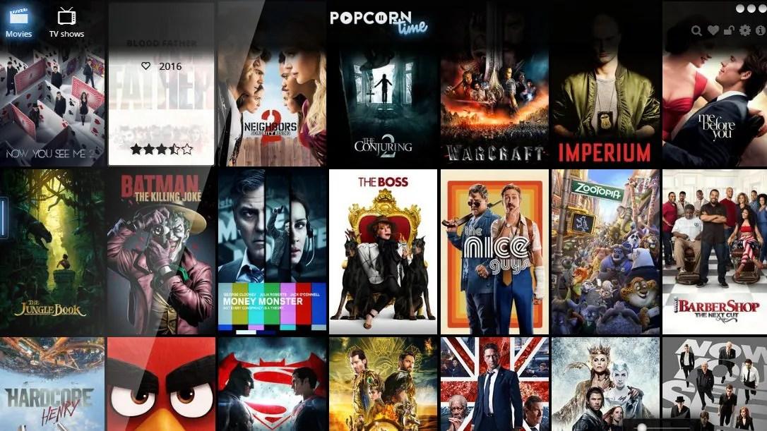 Popcorntime-auswahl