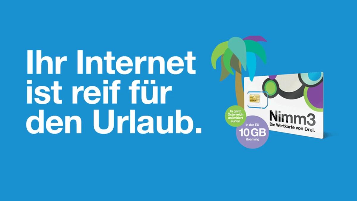 3: Nimm3 Internet Flat mit EU-Datenroaming