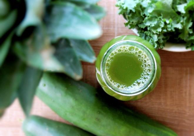 Pineapple Cucumber & Kale Juice