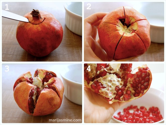 How to open a pomegranate mess free