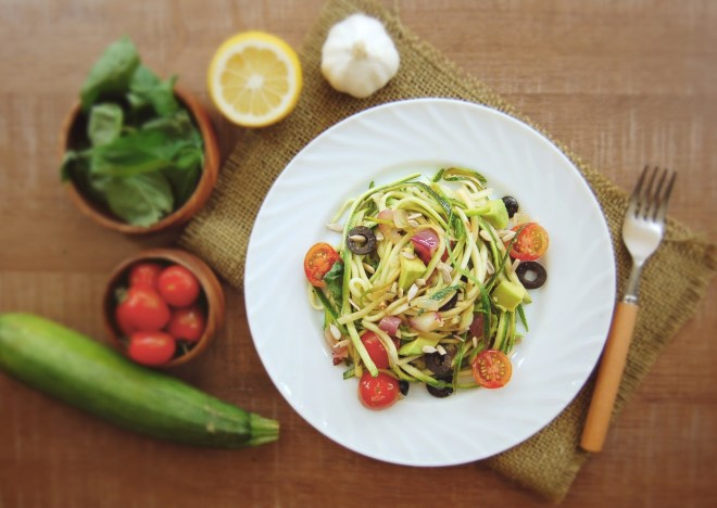 Ten minute zucchini noodles