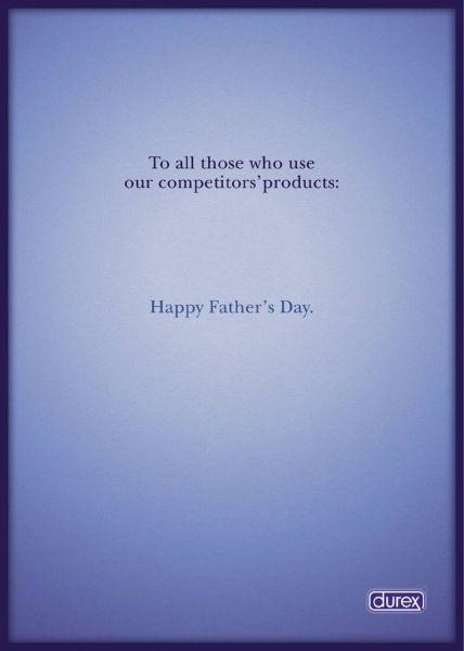 Durex, advertentie voor vaderdag. Happy Father's Day