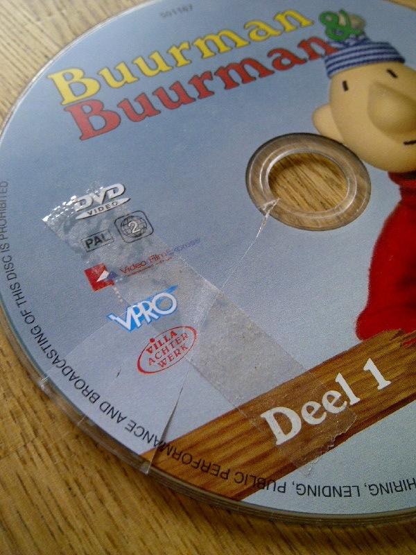 De DVD van Buurman & Buurman is in stijl gerepareerd