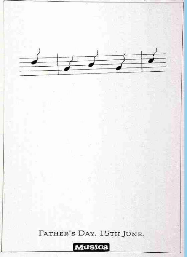 Advertentie vaderdag Musica