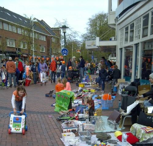 Vrijmarkt Hilversum, hier is het even rustig