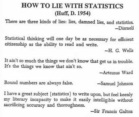 How to lie with statistics?