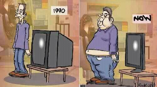 1990 en nu, TV en obesitas