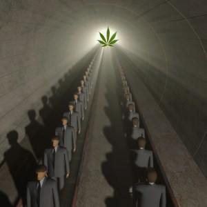 Manufacturing marijuana addicts through commercialization and legalization.