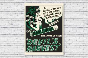 1942 Anti Marijuana Poster (Vintage Reefer Madness Poster)