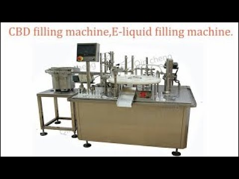 CBD oil filling machine.E-cigarette oil filling.plug stopper and screw capping machine.