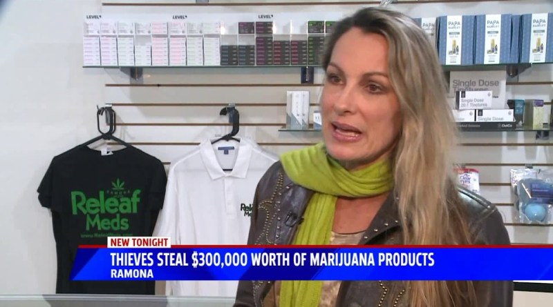 Thieves Steal $300,000 Worth Of Marijuana Products
