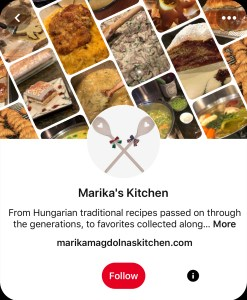 Follow Marika's Kitchen on Pinterest