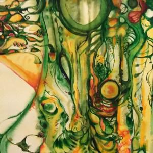 "My Jungle: Watercolor Painting by Marika Reinke 16' x 12"""