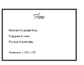 Flow Poem by Marika Reinke 2017