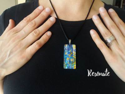 Resonate Watercolor Painting Necklace by Marika Reinke 2017