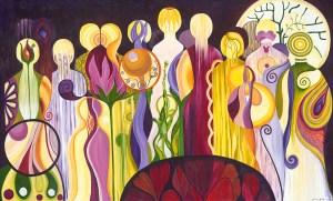 Community Acrylic Painting by Marika Reinke 2017 4.5' x 7.5'