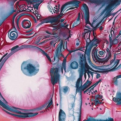 "Midnight Speaking Watercolor by Marika Reinke 2017 12' x 16"""