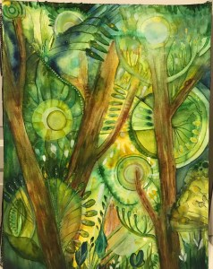 forest fairies work in progress watercolor on 140# cold press