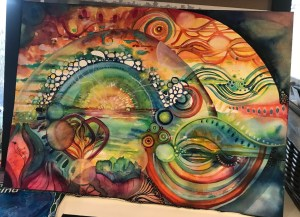 magic work in progress watercolor on cold press 140#
