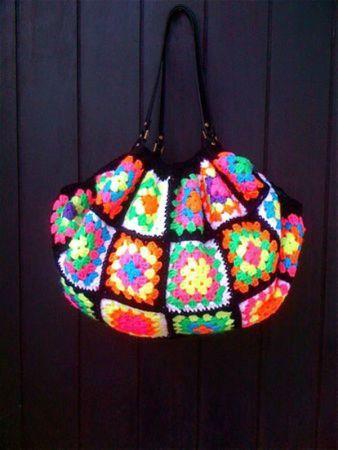 crochet multicolore