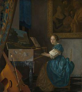 フェルメール「ヴァージナルの前に座る女」