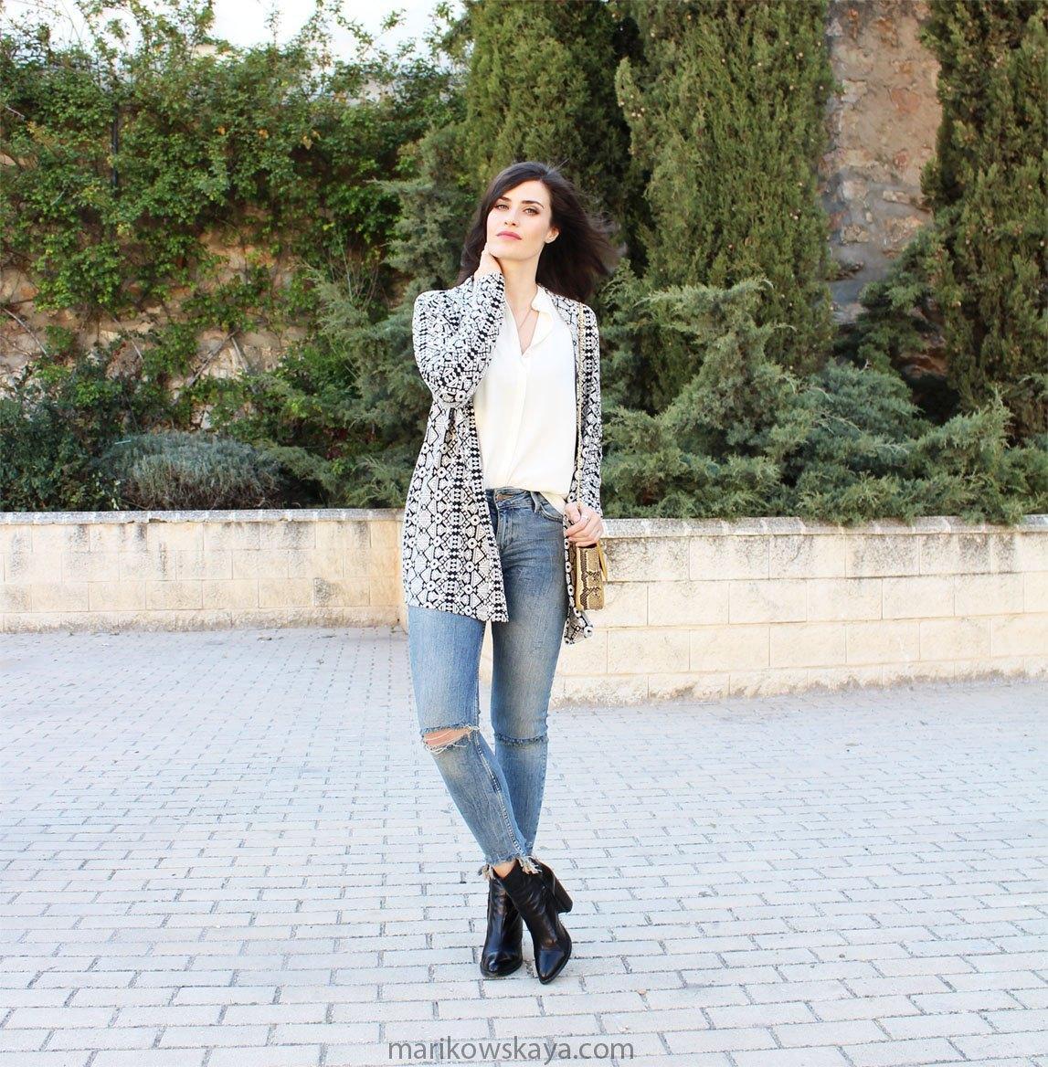 marikowskaya street style ripped jeans 6