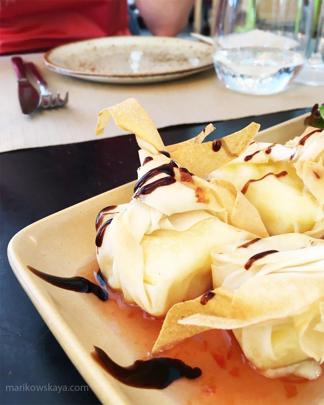 madrid nyx gran vía - restaurante frida saquitos de brie
