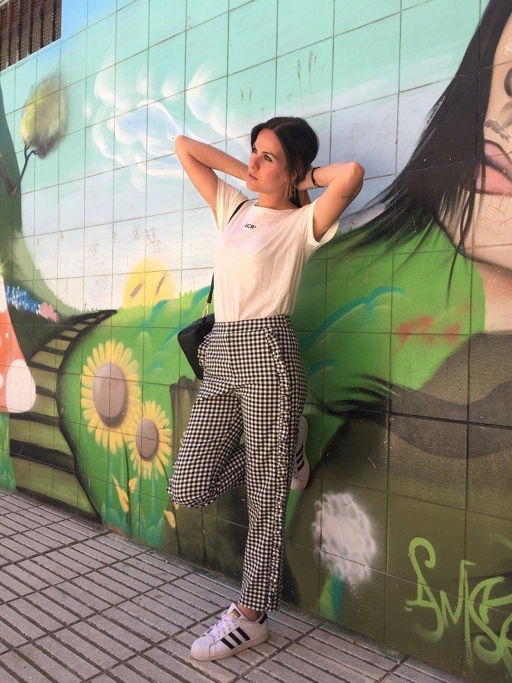 marikowskaya street style jenny pantalón vichy (3)