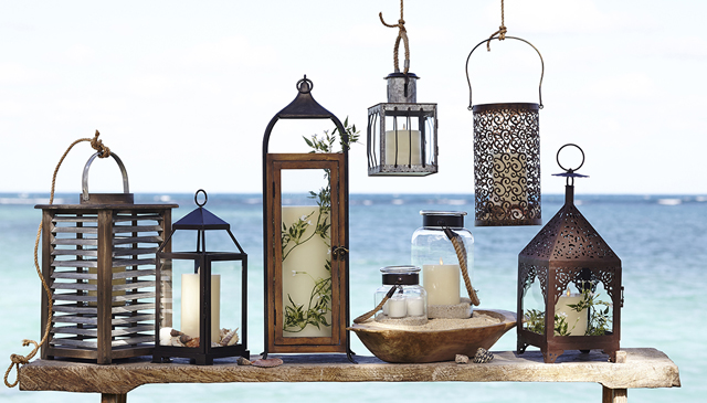 Summer lanterns perfect for our roof deck.