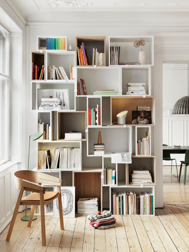 Stacked Shelving by Muulto