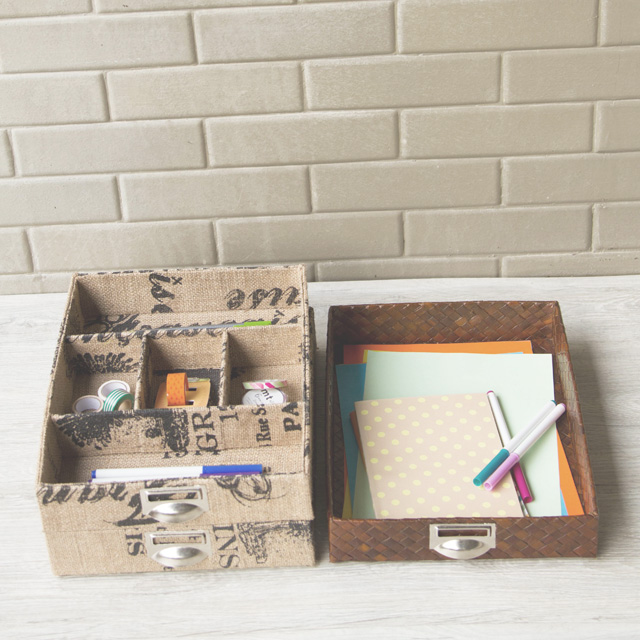 Trays are perfect for organizing office supplies.